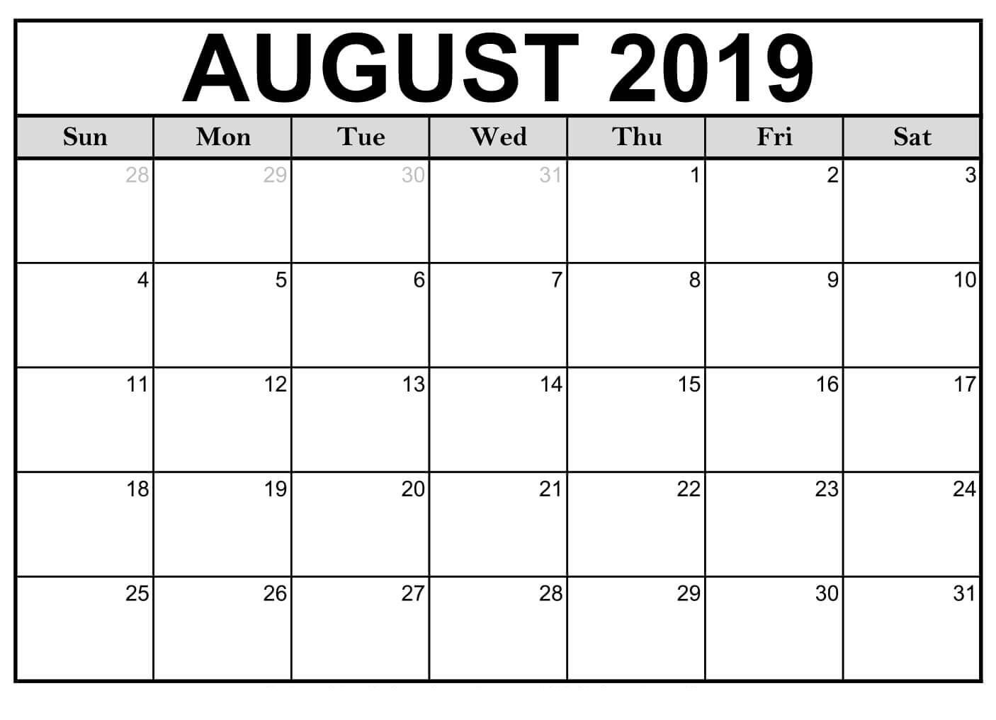 August 2019 Calendar #miniatures | August 2019 Calendar For-January 2020 Calendar Printable Wincalendar
