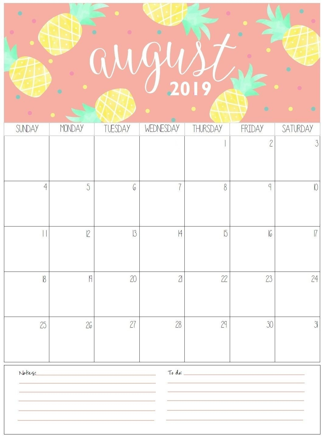 August Monthly Calendar 2019 | Organization | August-August Monthly Calendar Template