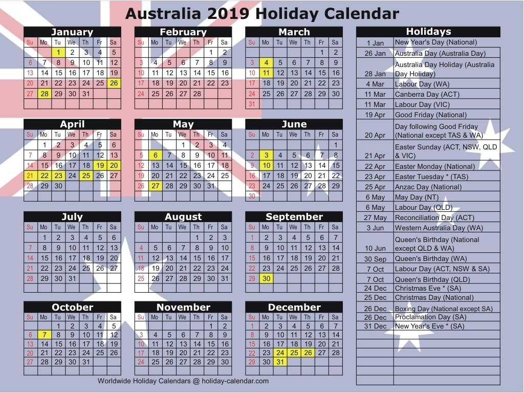 Australia 2019 / 2020 Holiday Calendar-Jamaica Public Holidays 2020 Printable