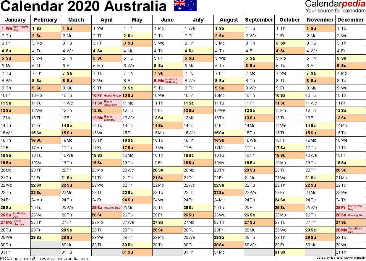 Australia Calendar 2020 - Free Printable Pdf Templates-2020 Qld School Holidays Printable