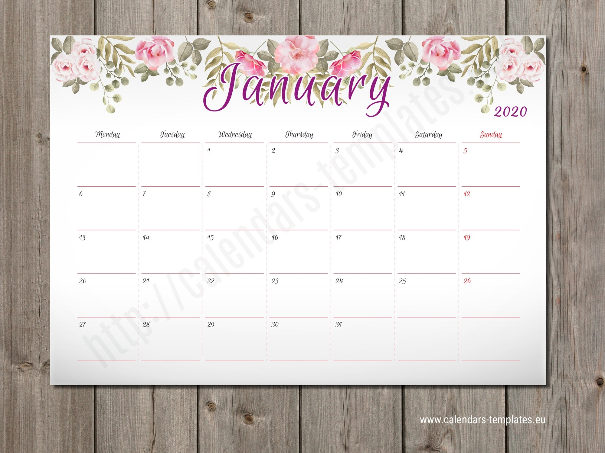 Best 2020 Monthly Planners Templates. Pdf, Eps, Svg And Wmf-Blank W9 2020 Printable Pdf