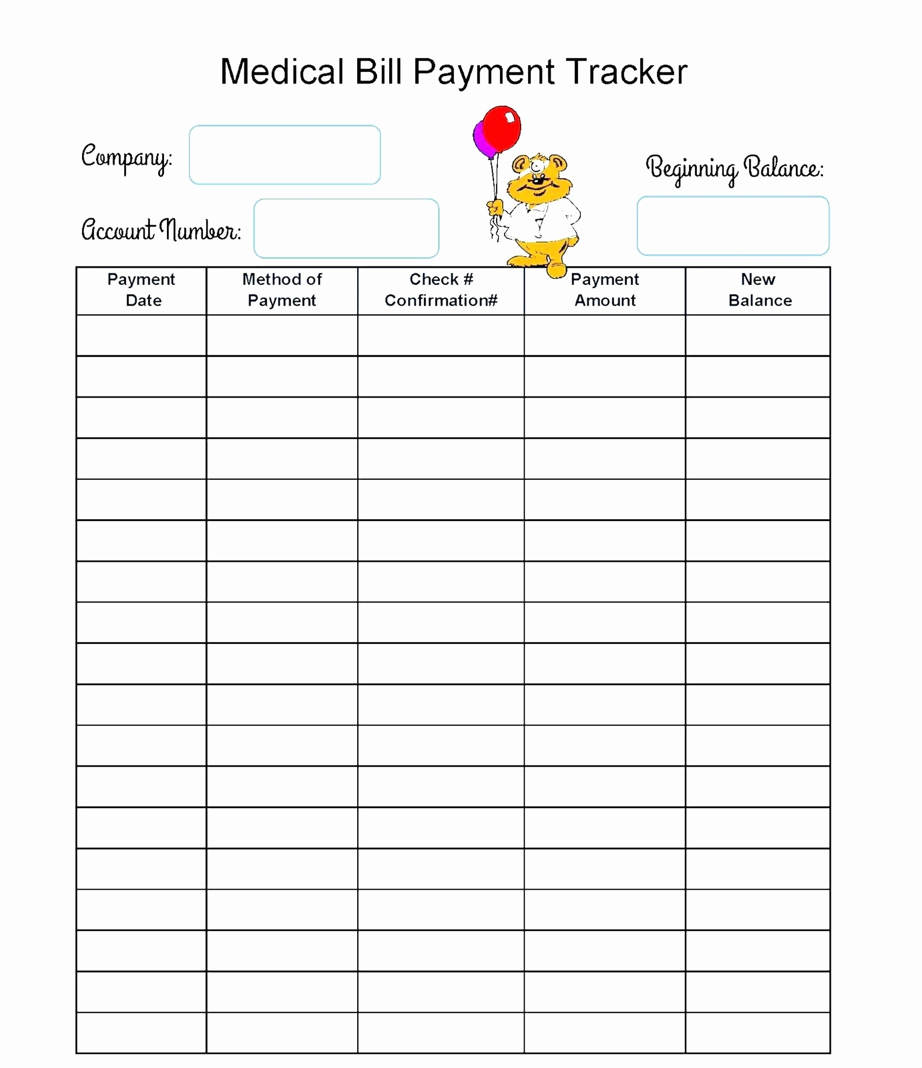 Bill Ker Template Payment Organizer Excel Lovely Due Date Of-Bill Due Date Template Pdf