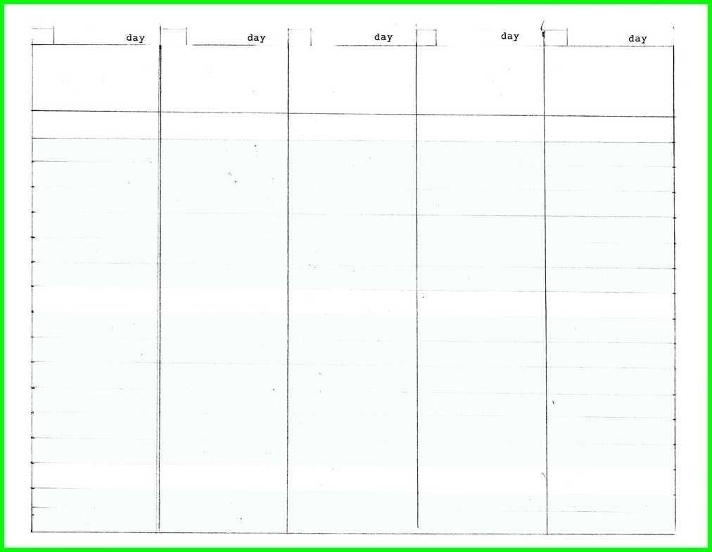 Blank Calendar Template 5 Day | Beauty Calendar Printable-5 Day Calendar Template