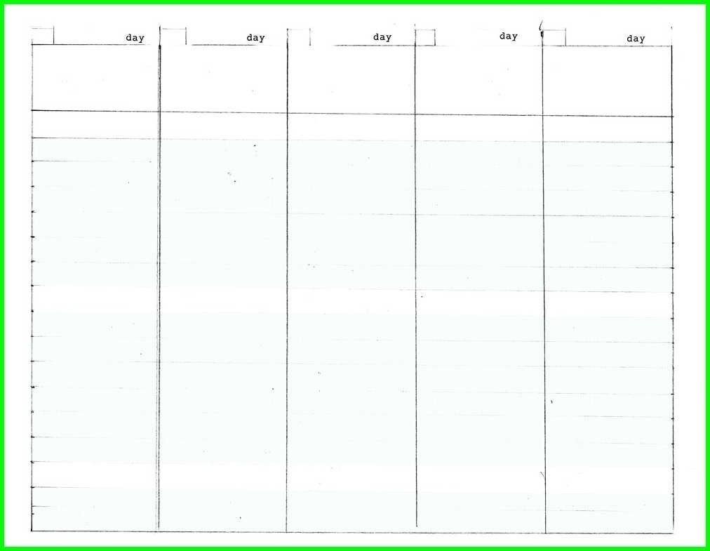 Blank Calendar Template 5 Day | Beauty Calendar Printable-5 Day Template Calendar Blank