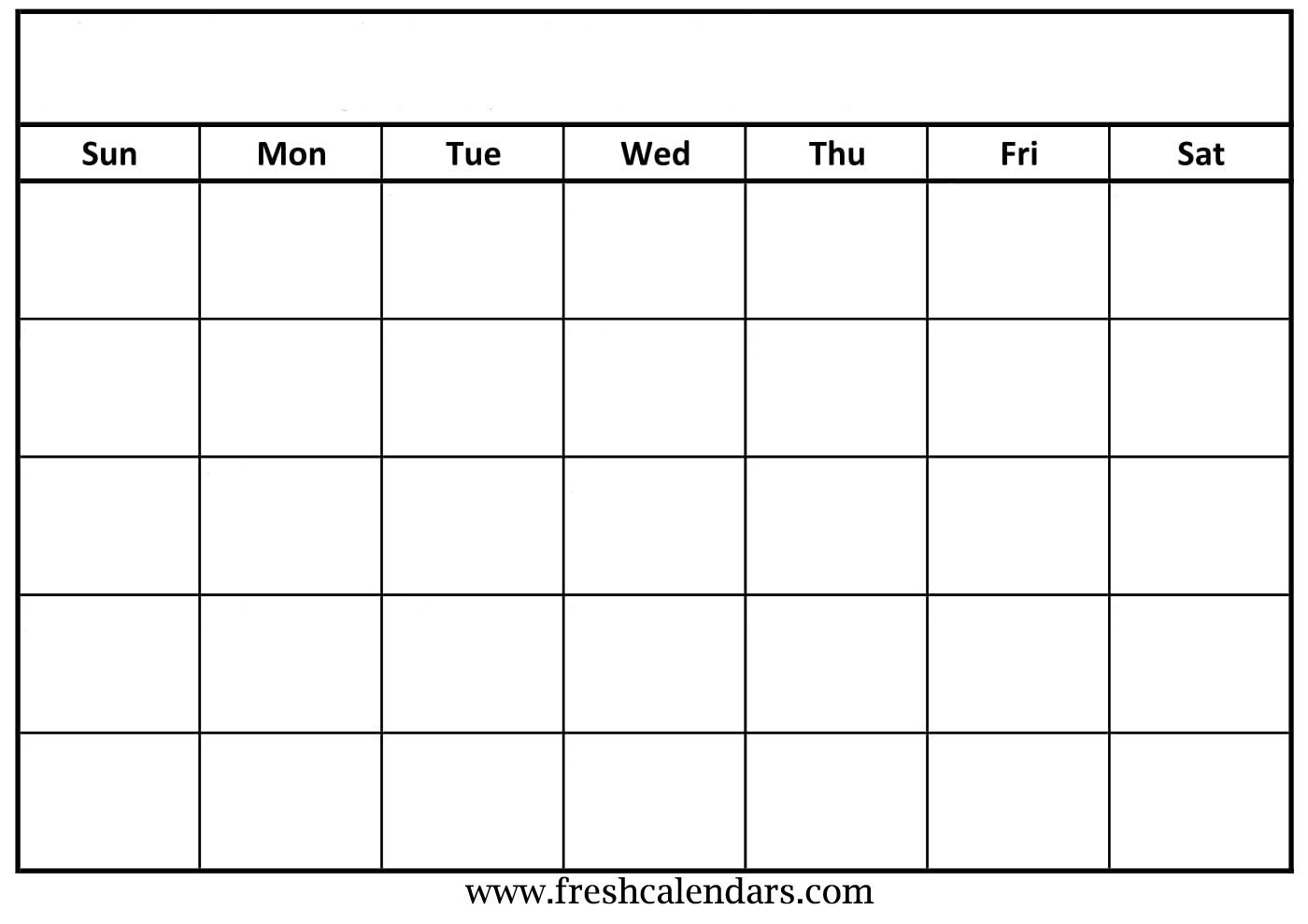 Blank Calendar: Wonderfully Printable 2019 Templates-Free Printable Blank Calendar Grid