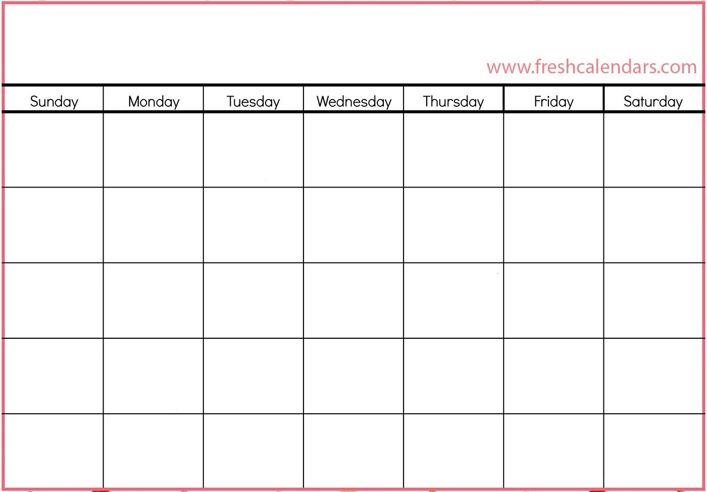 Blank Calendar: Wonderfully Printable 2019 Templates-Printable Blank Calendar Grid