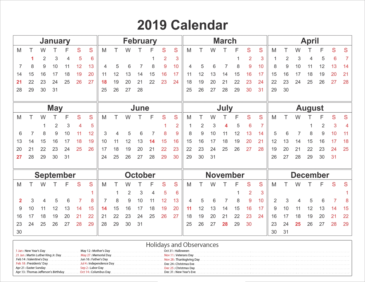 Blank Printable Calendar 2019 With Holidays-Holidays In Philippines Printable