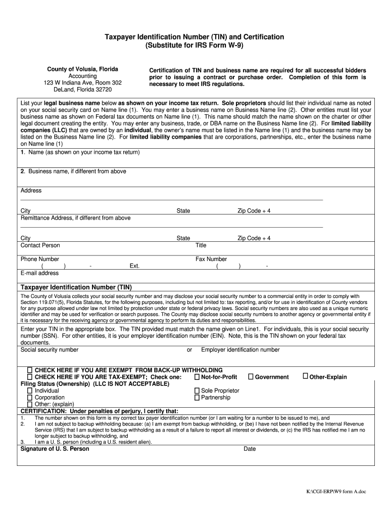 Blank W 9 Form To Print - Fill Online, Printable, Fillable-Order Blank W-9 Forms