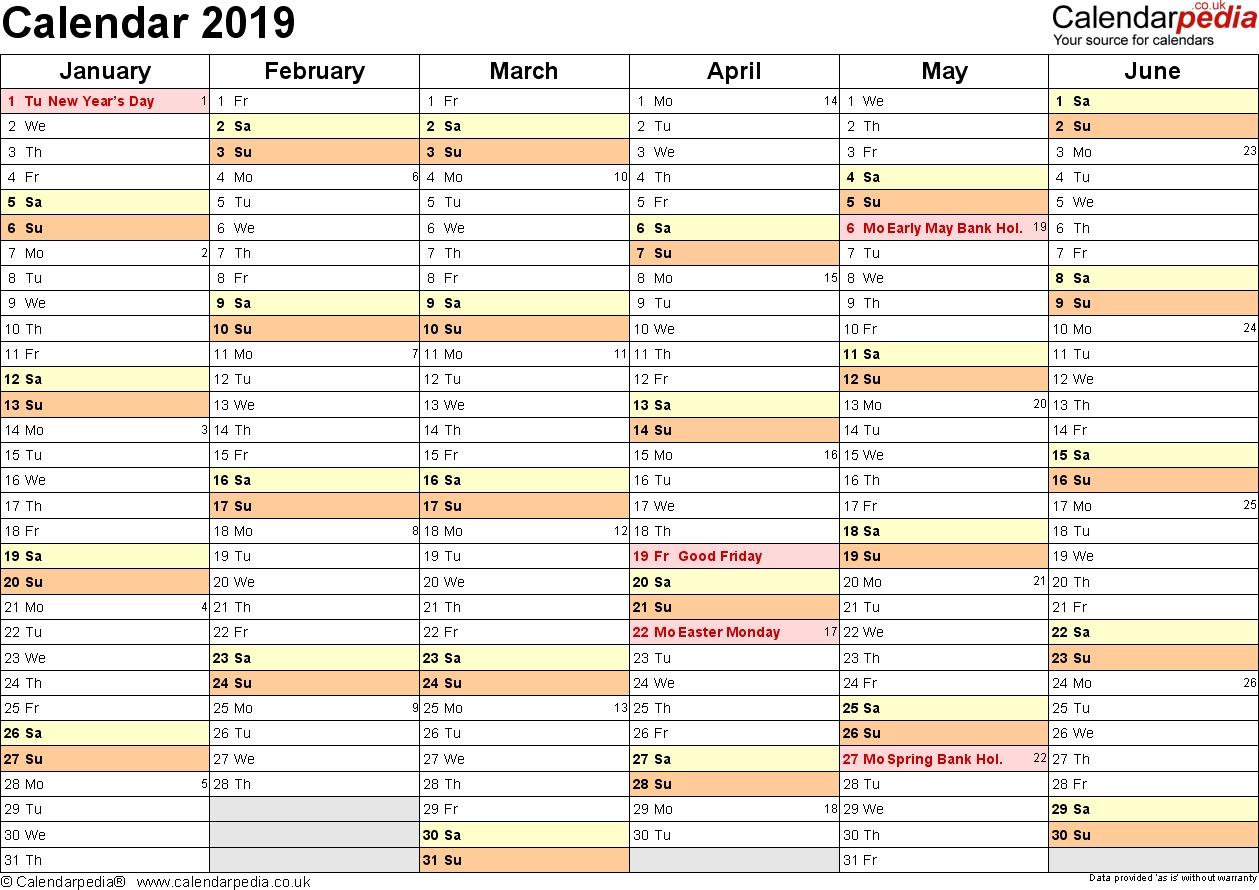Calendar 2019 (Uk) - 16 Free Printable Pdf Templates-Monthly Calendar Uk Printable