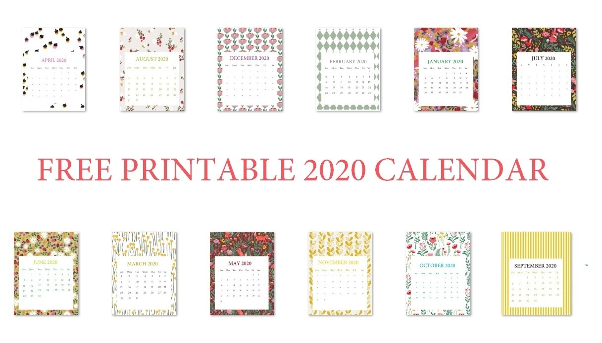 Calendar 2020 June July August - School Calendar - Santa-Free Monthly Holiday Themed Calendar Printable 2020-2020