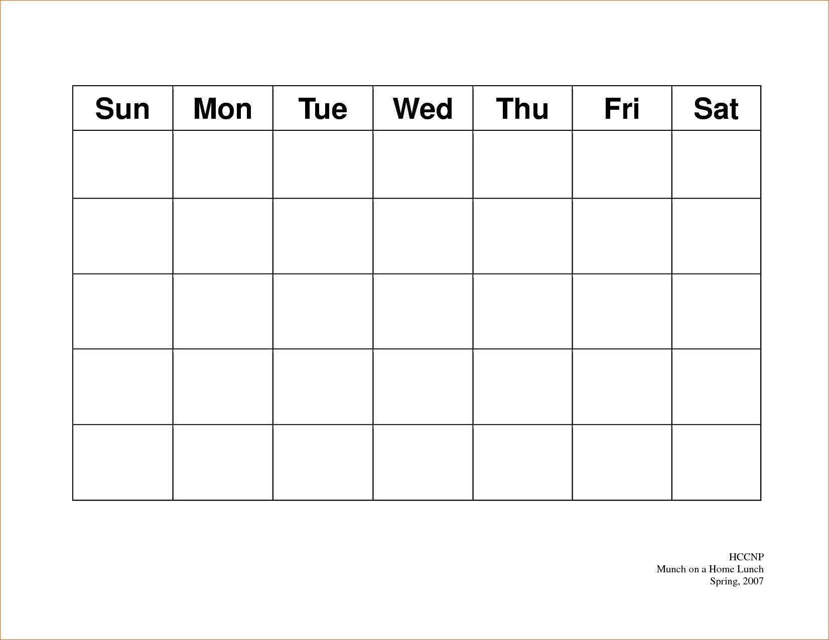 Calendar 5 Day Weekly Calendar Template On 5 Week Calendar-5 Day Calendar Template