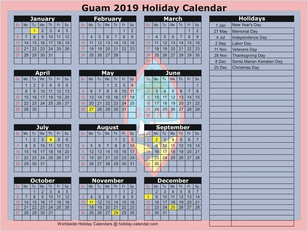 Calendar Holidays 2019 Grenada • Printable Blank Calendar-All The Holidays In Grenada 2020