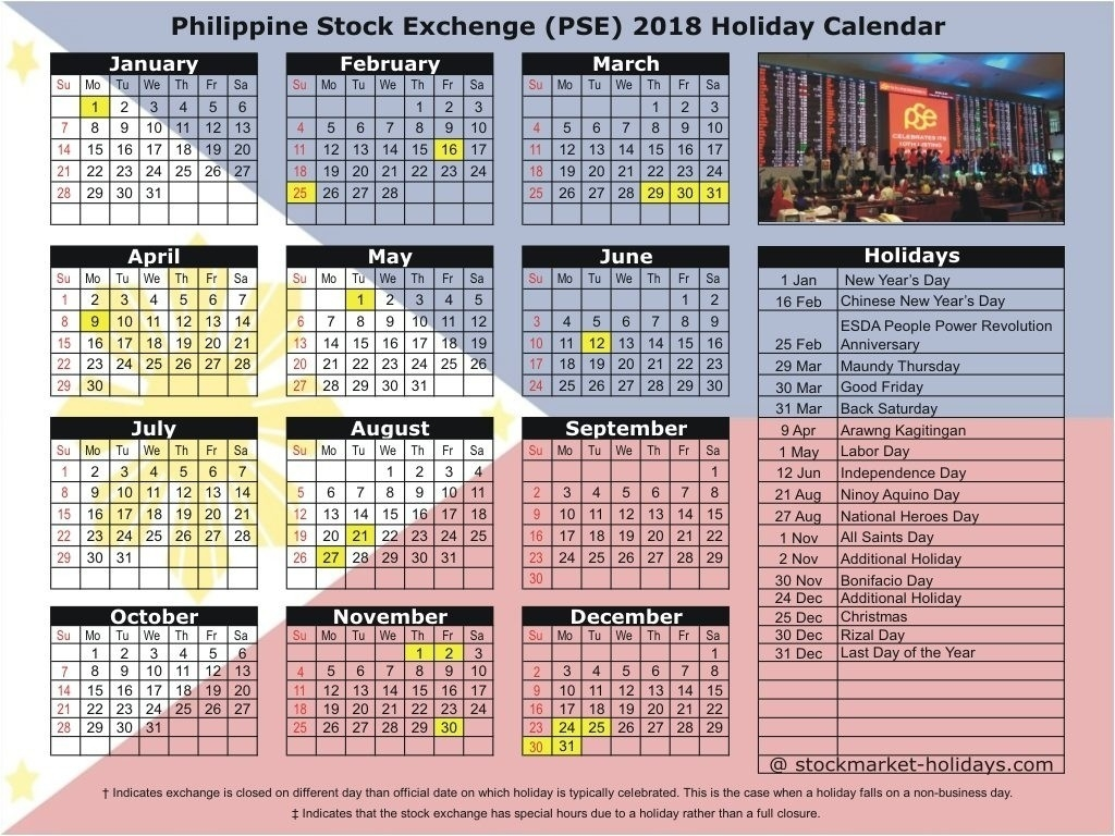 Calendar Holidays In The Philippines • Printable Blank-Holidays In Philippines Printable