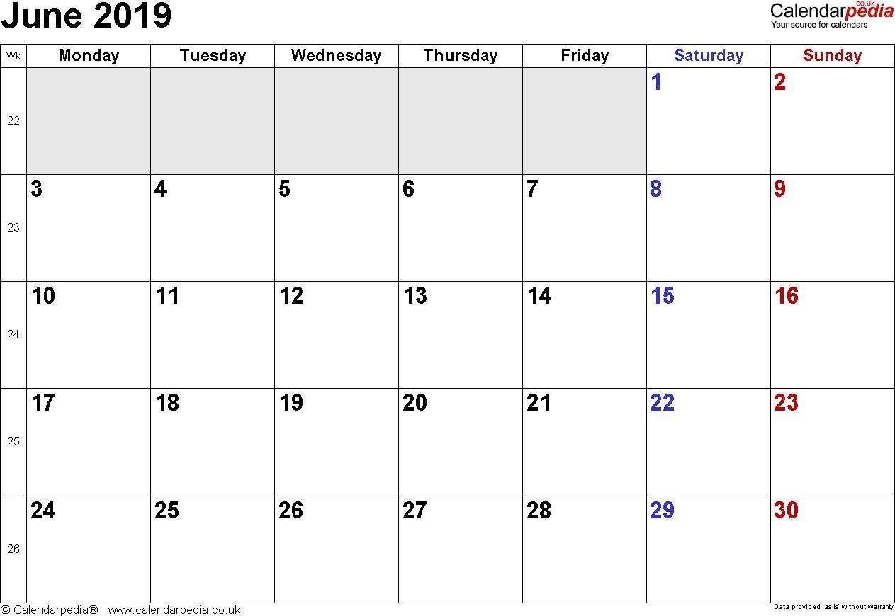 Calendar June 2019 Uk, Bank Holidays, Excel/pdf/word Templates-Blank Month Caledar Uk