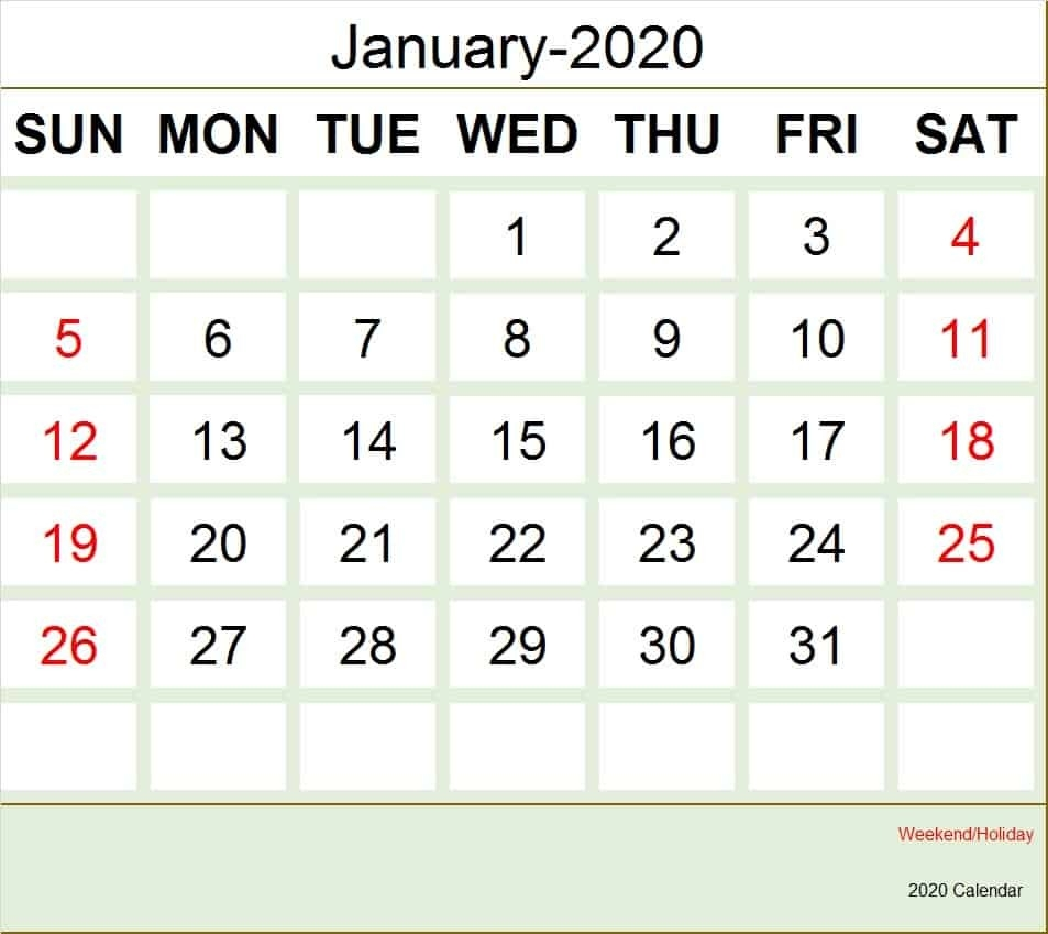 Calendar Of January 2020, Holidays,historical Events In January-National Day Calendar January 2020