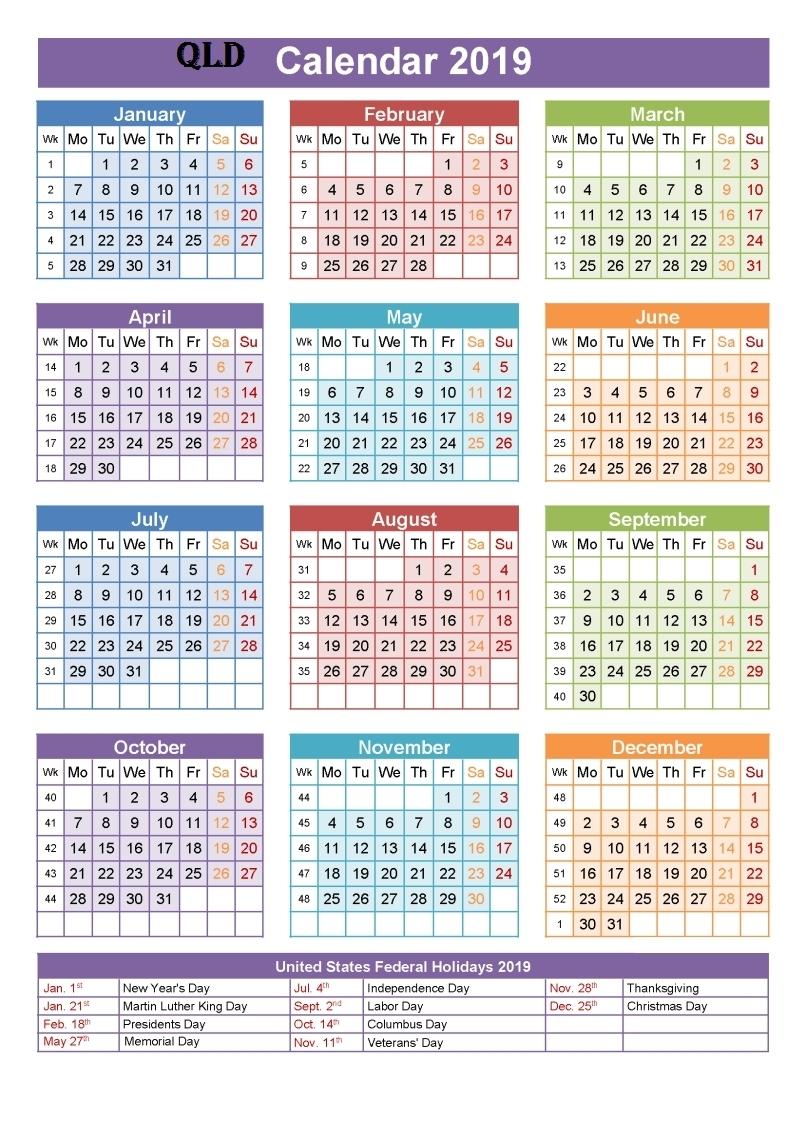 Calendar School Holidays Queensland • Printable Blank-Calender With Qld Holidays 2020 Printable