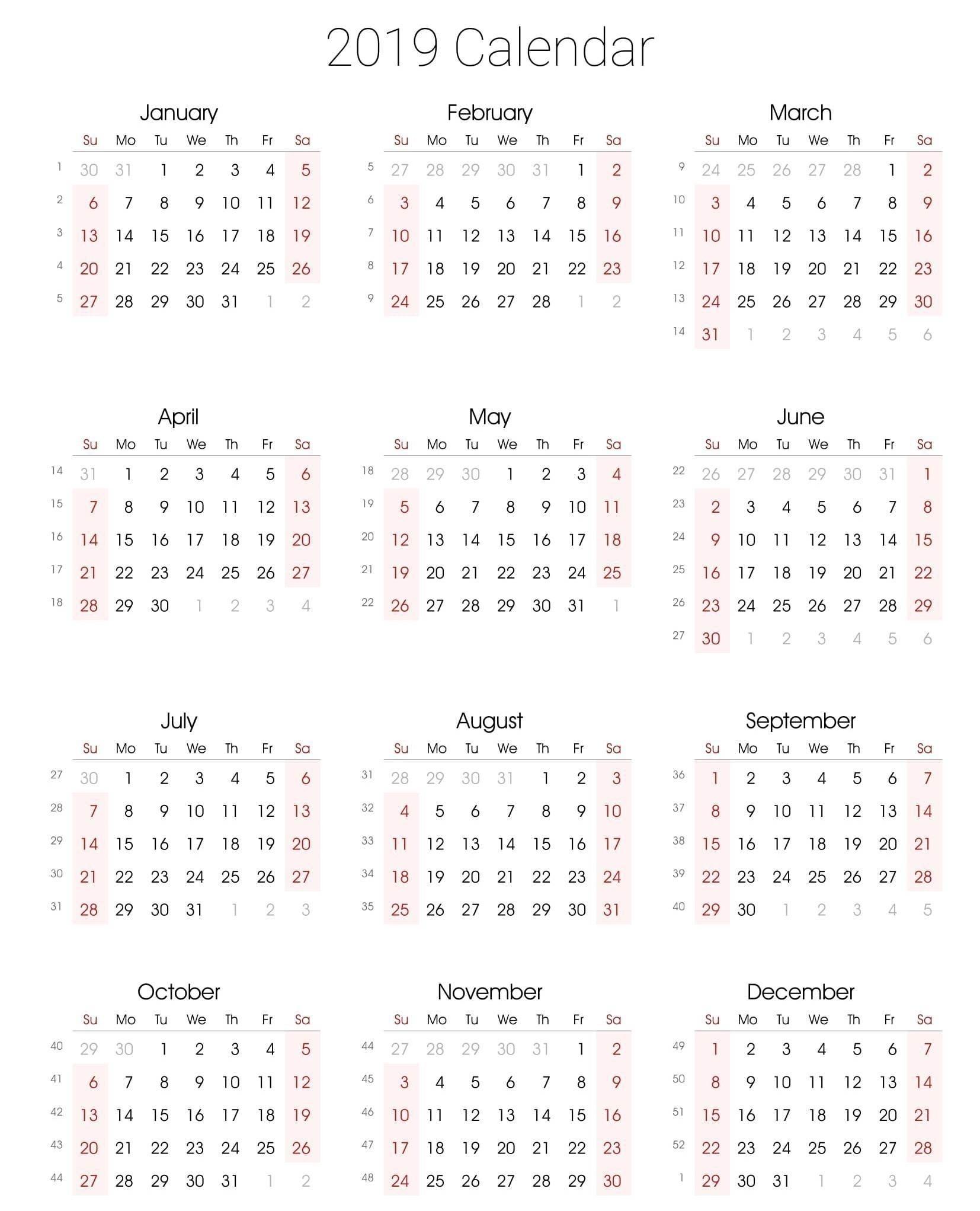 Calendar Template By Vertex • Printable Blank Calendar Template-Calender Template By Vertex