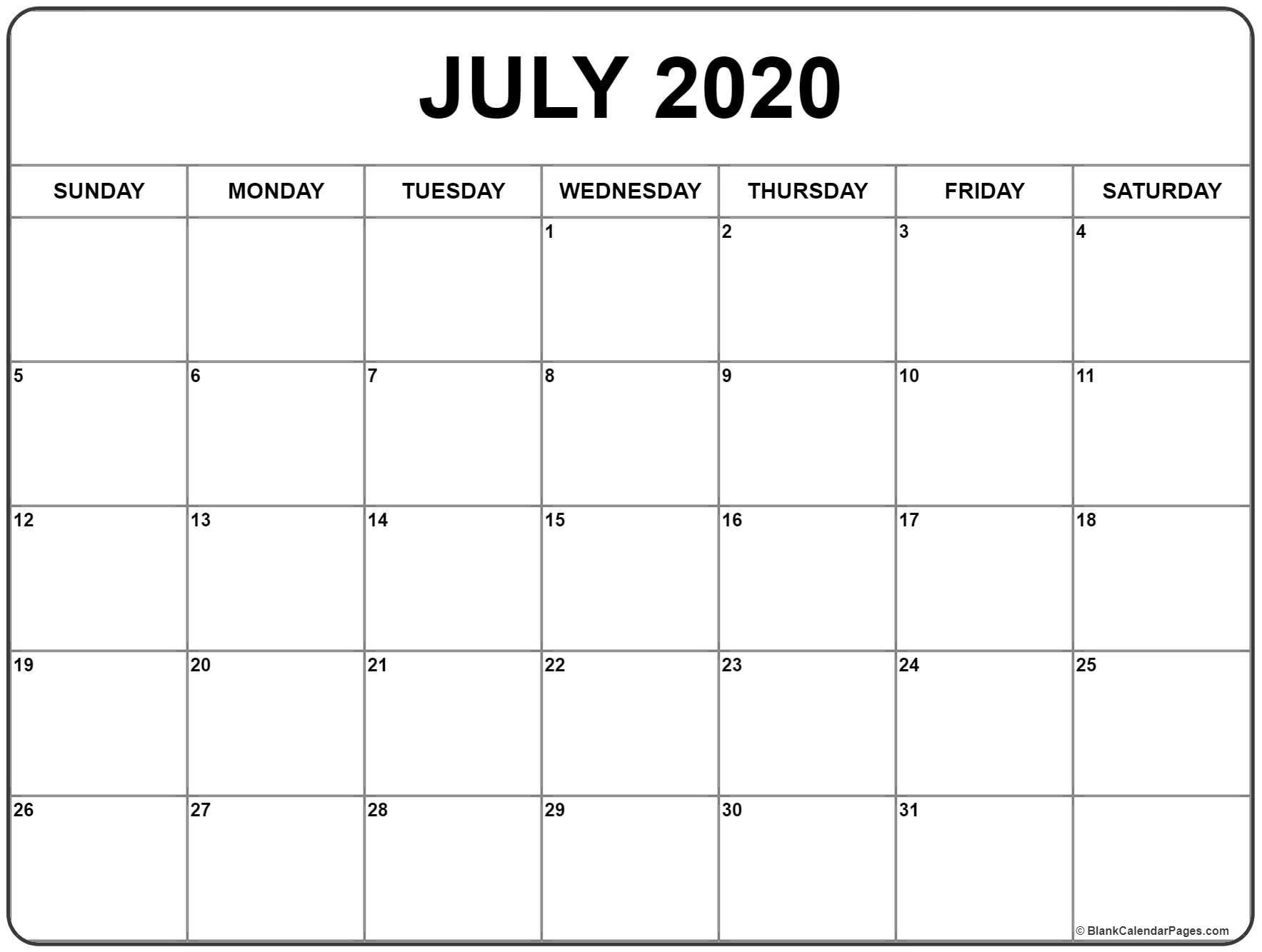 Calendar Template Printable-Monthly Bill Calendar 2020