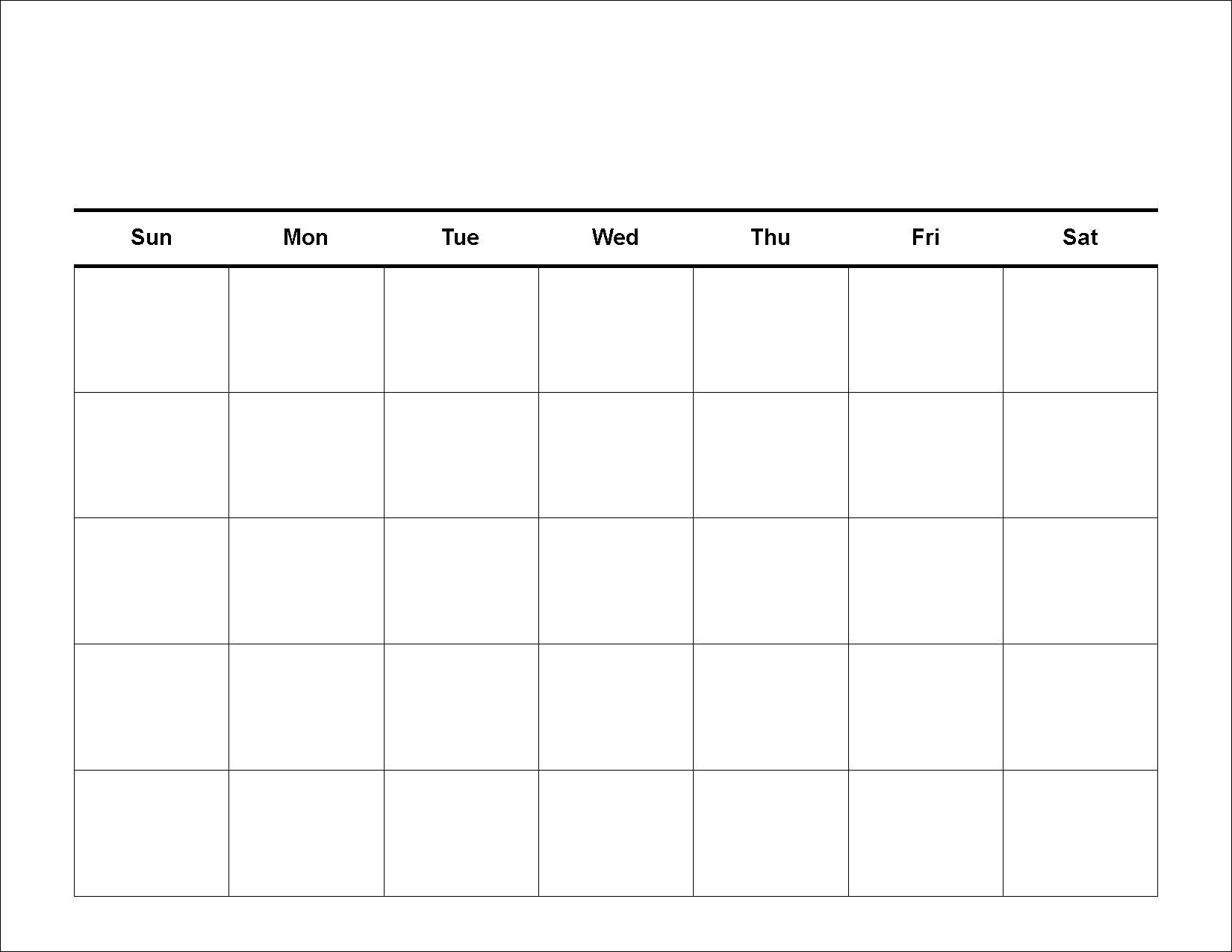 Calendar Template To Fill In • Printable Blank Calendar Template-Fill In Calendar Template