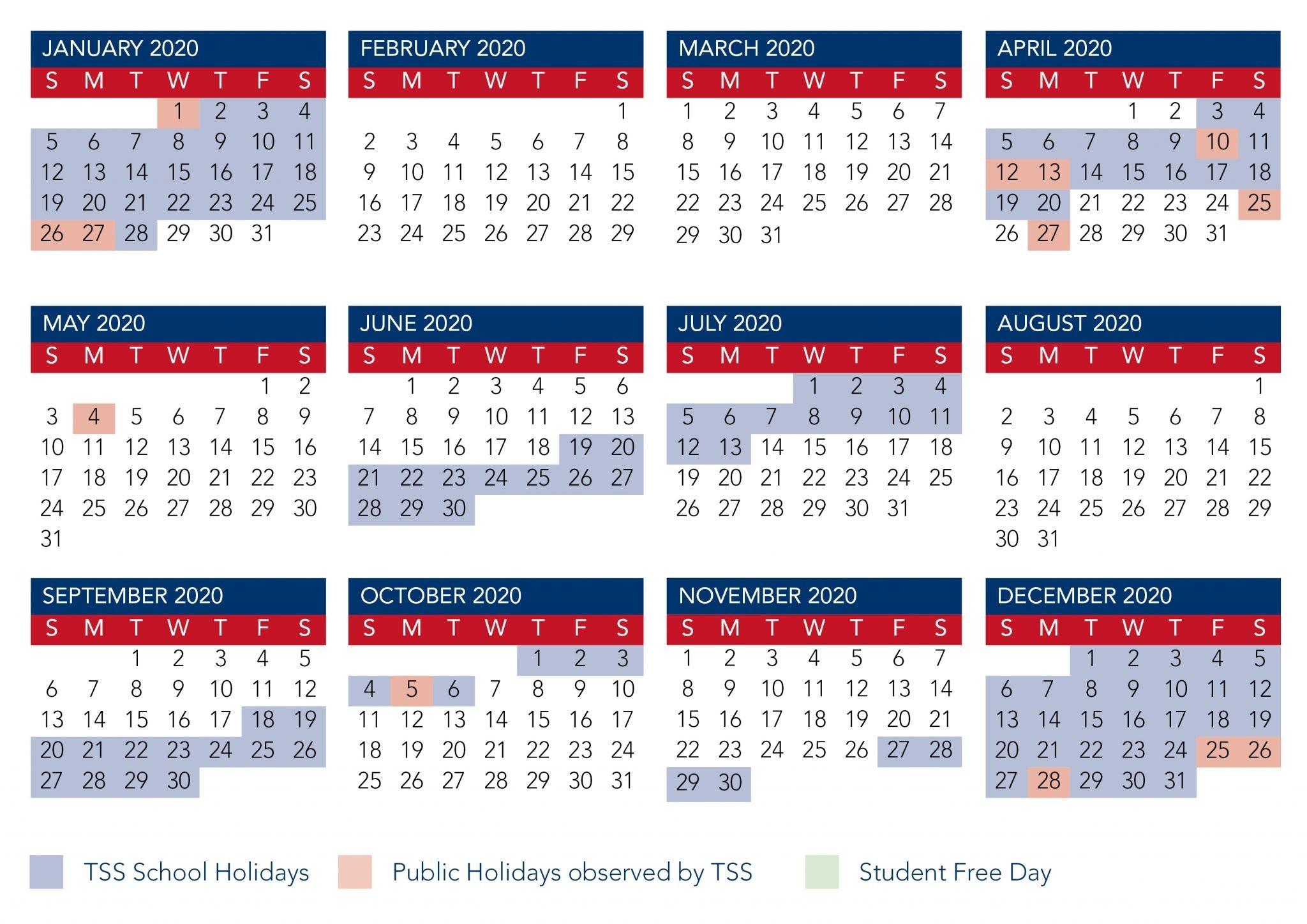 Calendar | The Southport School-Nz School Holidays 2020 Calendar