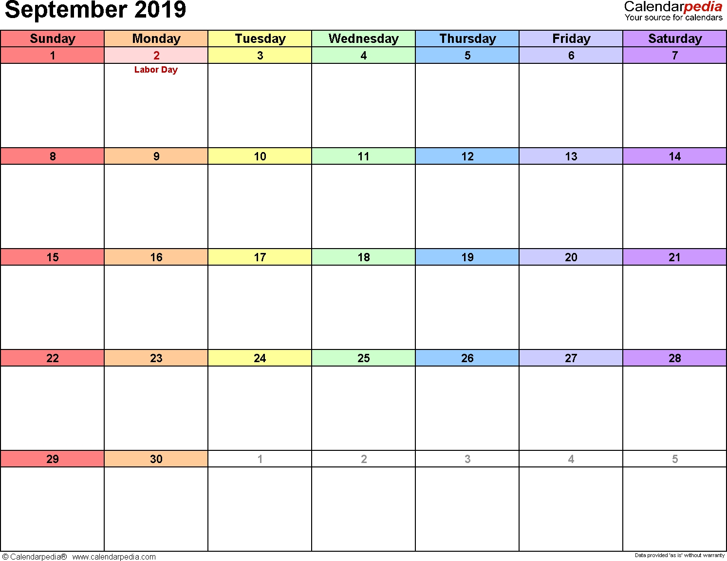 Calendarpedia - Your Source For Calendars-How To Design Writeable Monthly Bill-Payments Calendar Template 2020