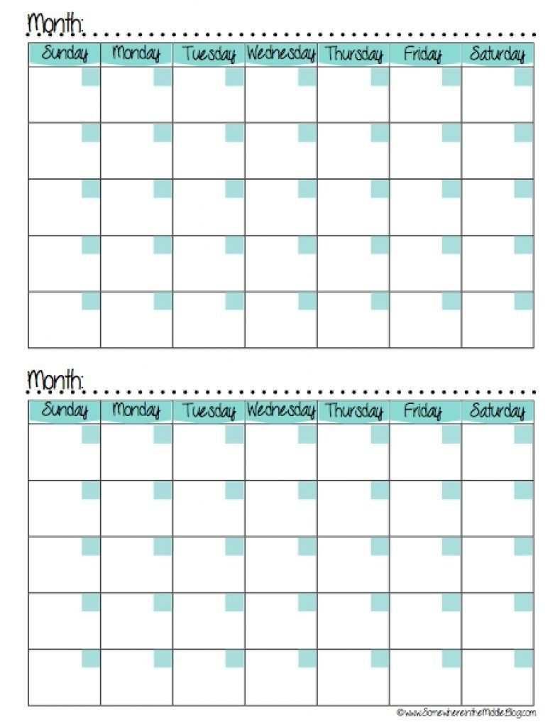 Calendars 2 Months Per Page Seven Photo And Month Calendar-2 Month Calendar Template Printable