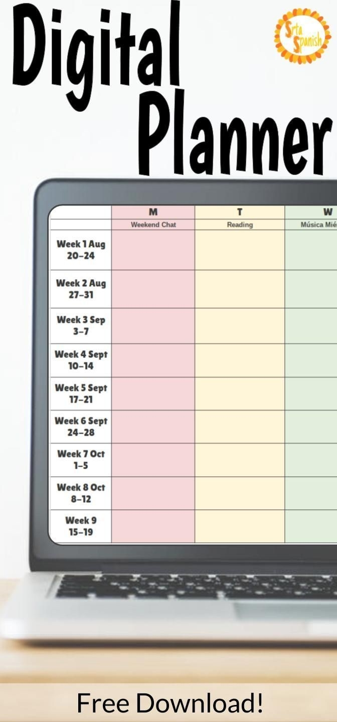 Check Out This Free Digital Planner Download For Google-Free Google Drive Planner Template