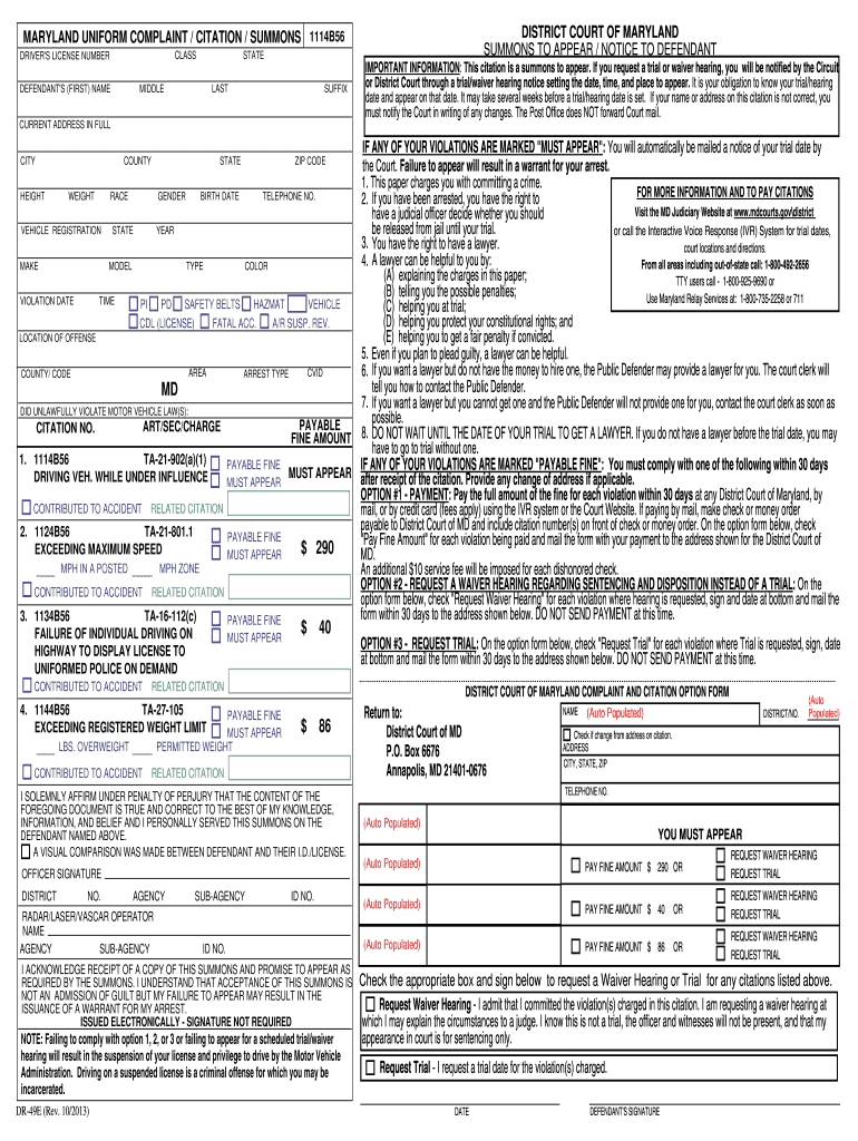 Citations Blank - Fill Online, Printable, Fillable, Blank-W9 Blank Form For Louisiana 2020