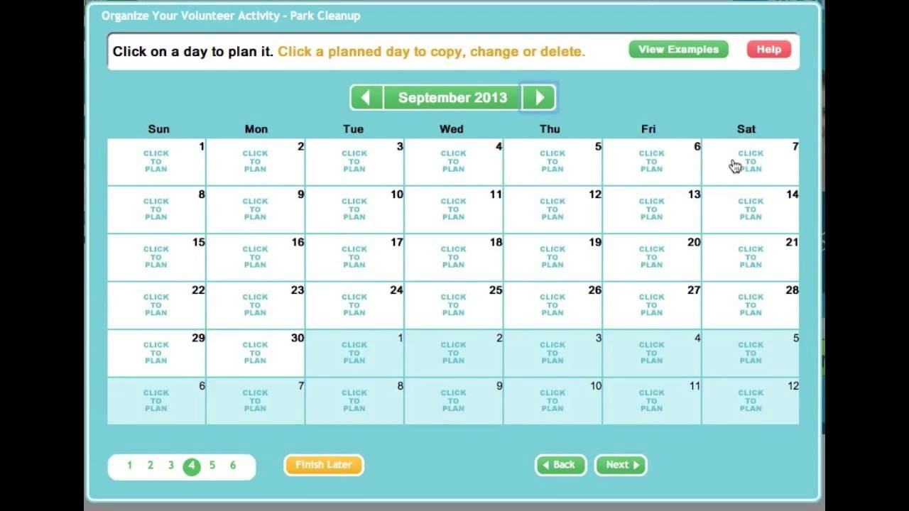 Creating An Online Sign Up Sheet Or Volunteer Calendar-Monthly Calendar Sign Up Sheet