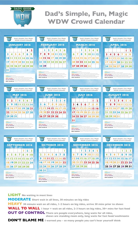 Dad's 2016 Walt Disney World Crowd Calendars-Disney World Crowd Calendar January 2020
