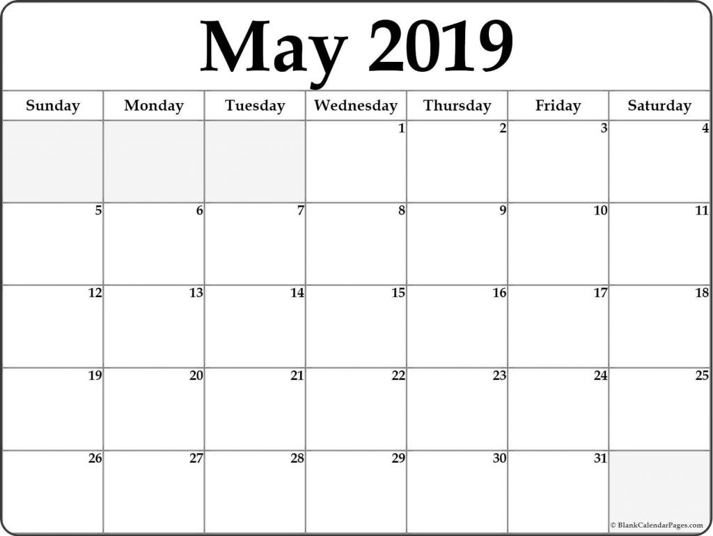 Daily Calendar Template May Print Blank Printable 2019 Free-Monthly Schdule For June