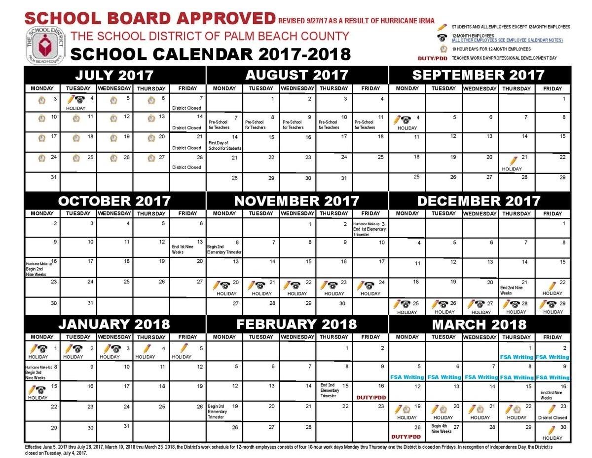Dashing Calendar School District Palm Beach • Printable-Beach Calendar With Blanks
