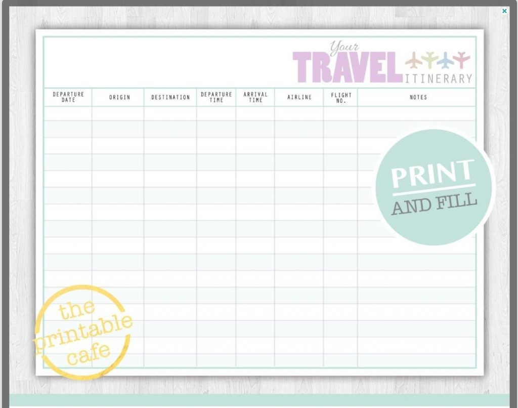 Day Travel Itinerary Template Basic December Disney World 7-Fillable Itinerary Template Disney