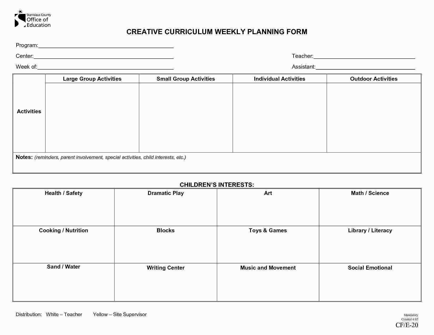 Daycare Lesson Plan Template Preschool Templates-Daycare Weekly Lesson Plan Template