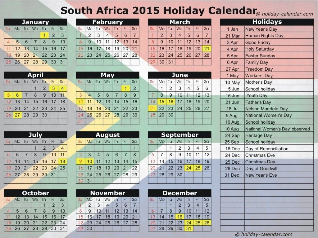 Did You Know In South Africa, News Years Is Spend On January-2020 Calendar South Africa With Public Holidays