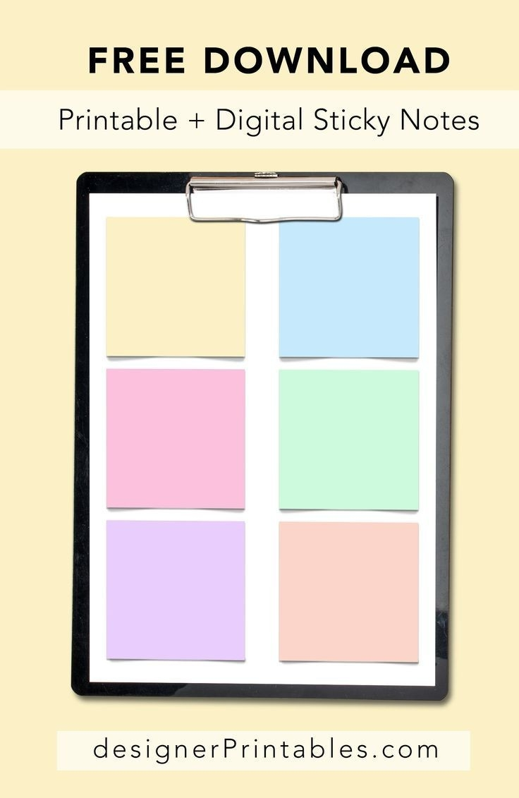 Digital Sticker Sticky Notes For Your Goodnotes App Digital-Free Sticky Note Calendar Template