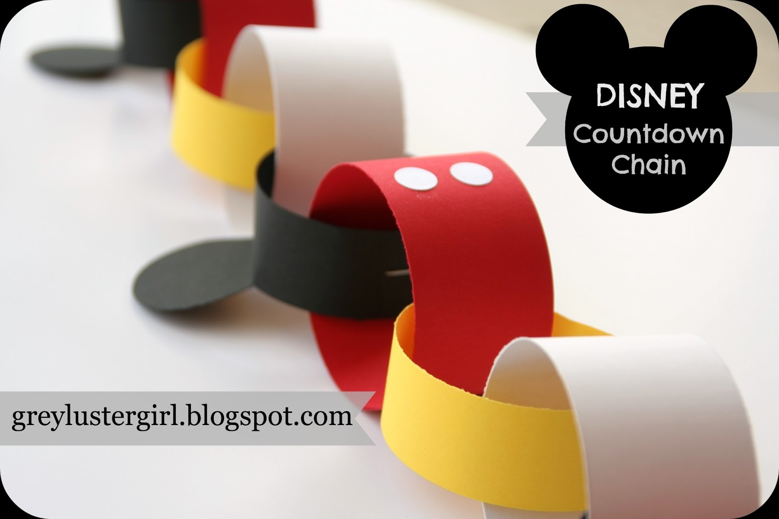 Disney Mickey Mouse Countdown Chain Tutorial --Countdown To Disney Template
