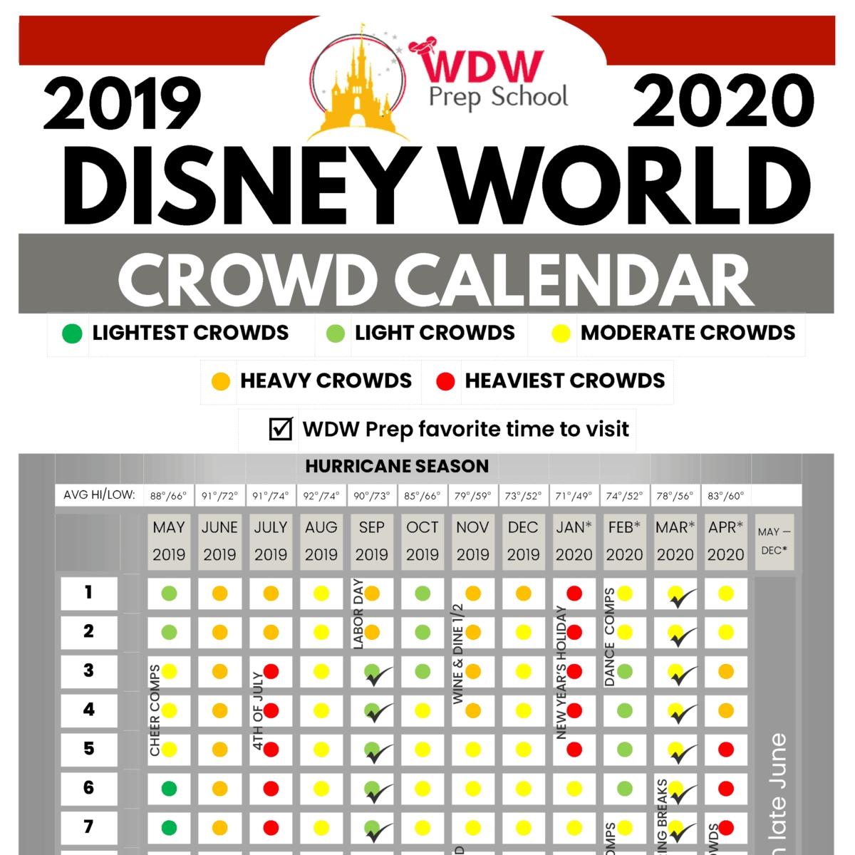 Disney World 2019 & 2020 Crowd Calendar (Best Times To Go-Walt Disney World Crowd Calendar January 2020