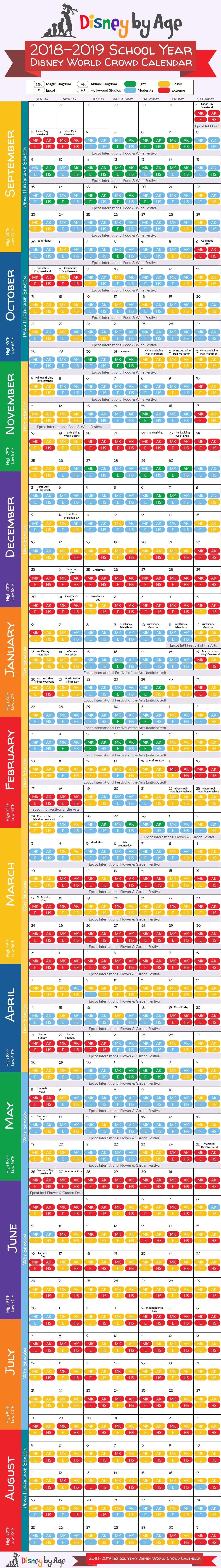 Disney World Crowd Calendar 2018 And 2019-Disney Crowd Calendar January 2020