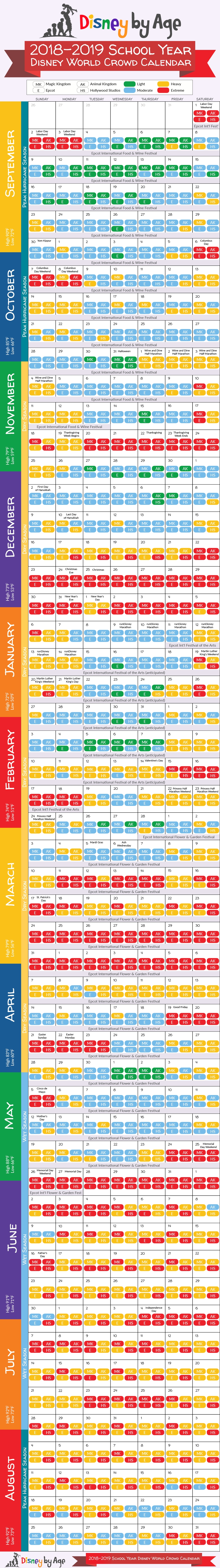 Disney World Crowd Calendar 2018 And 2019-Disney World January 2020 Crowd Calendar