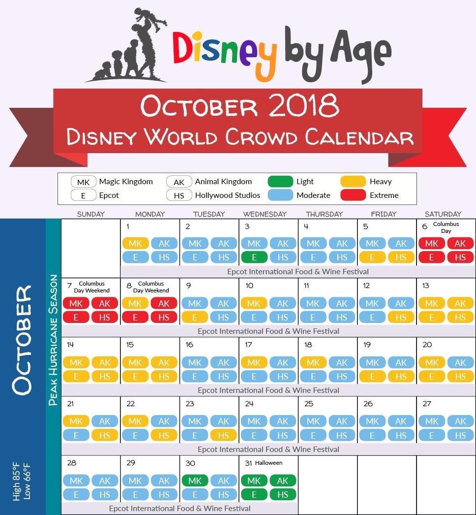 Disney World Crowd Calendar 2018 And 2019-January 2020 Crowd Calendar