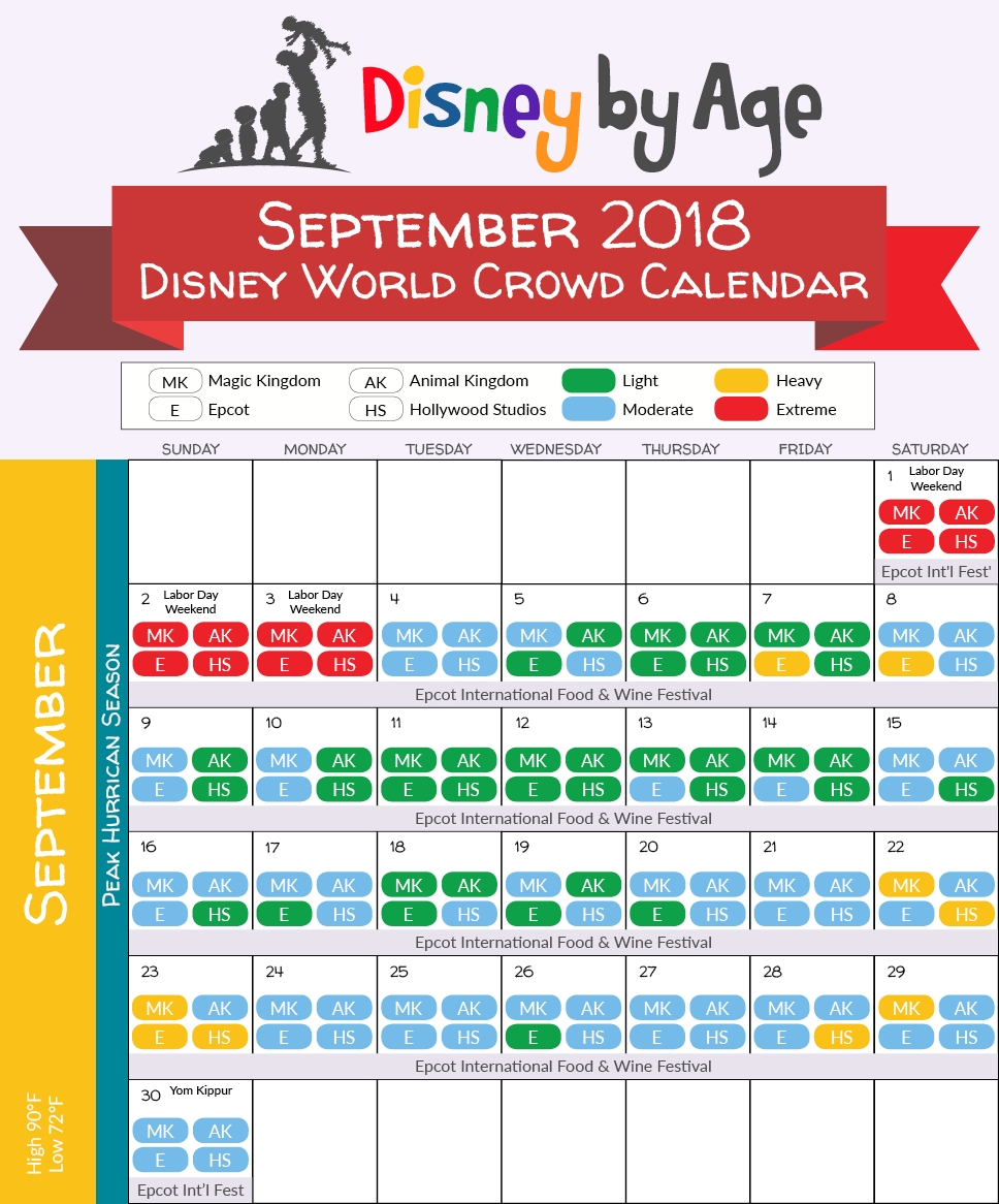 Disney World Crowd Calendar 2018 And 2019-Kenny The Pirate Crowd Calendar January 2020