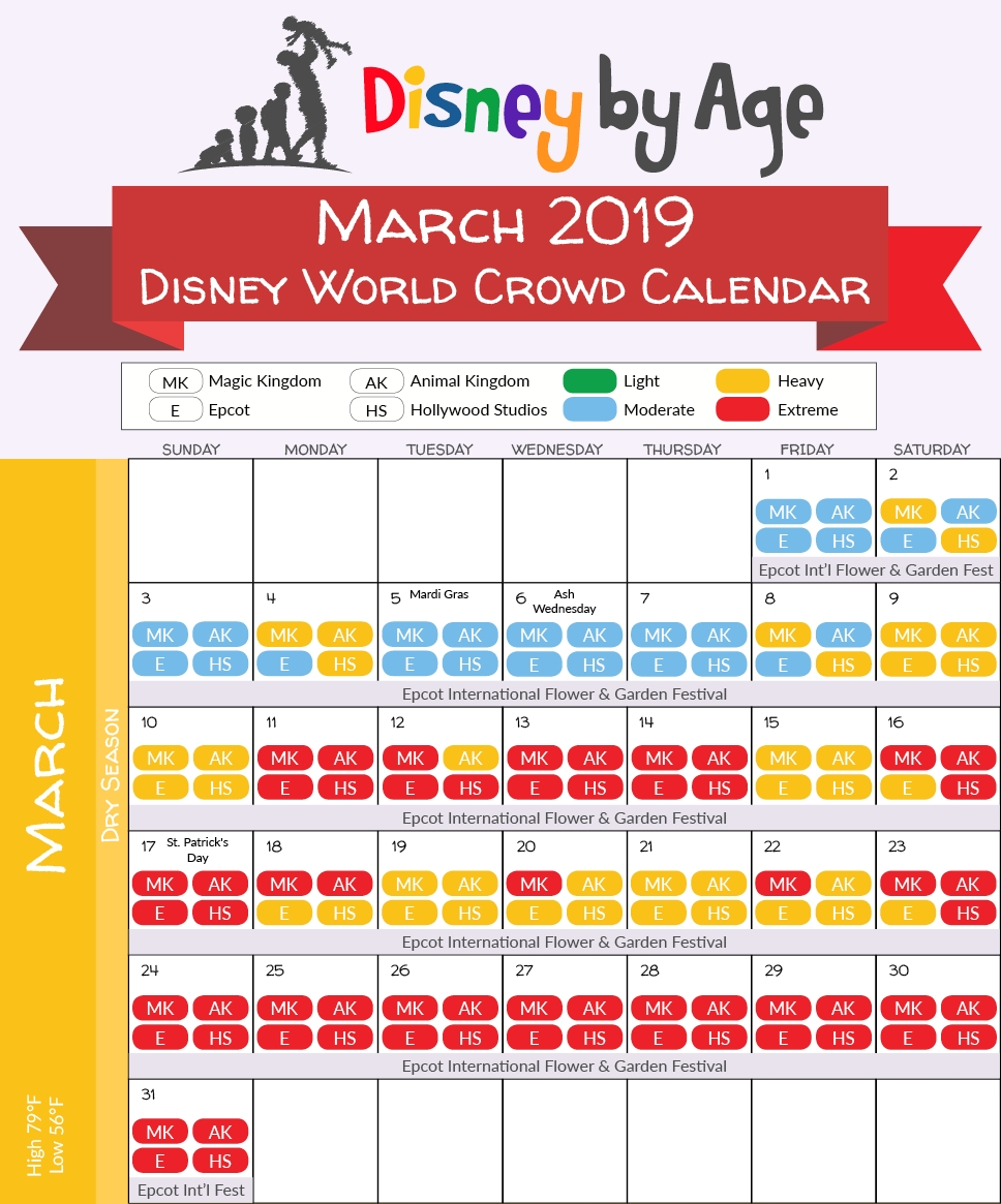 Disney World Crowd Calendar 2018 And 2019-Universal Orlando Crowd Calendar January 2020