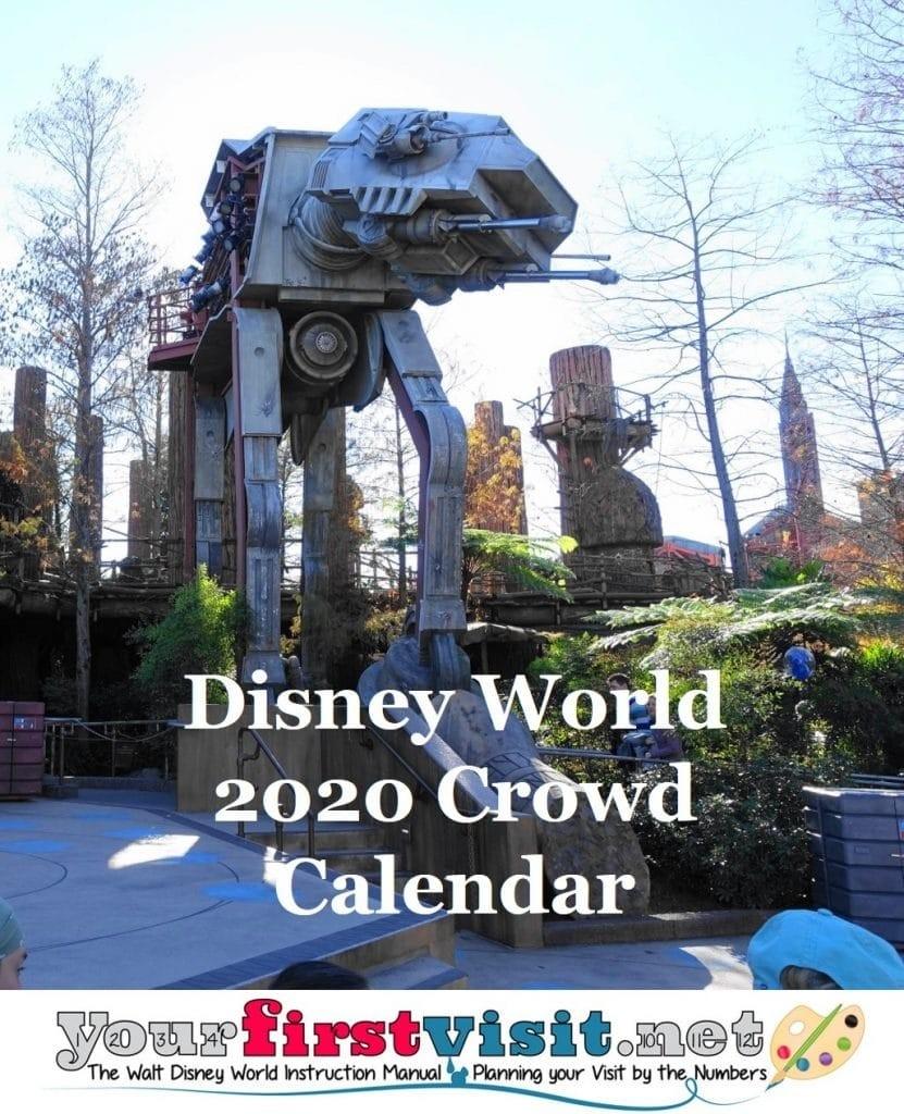 Disney World Crowds In 2020 - Yourfirstvisit-January 2020 Crowd Calendar Disney