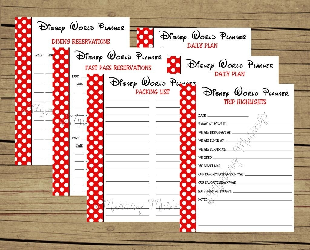 Disney World Itinerary Template New Summer For Walt Released-Disney World Vacation Planner Templates