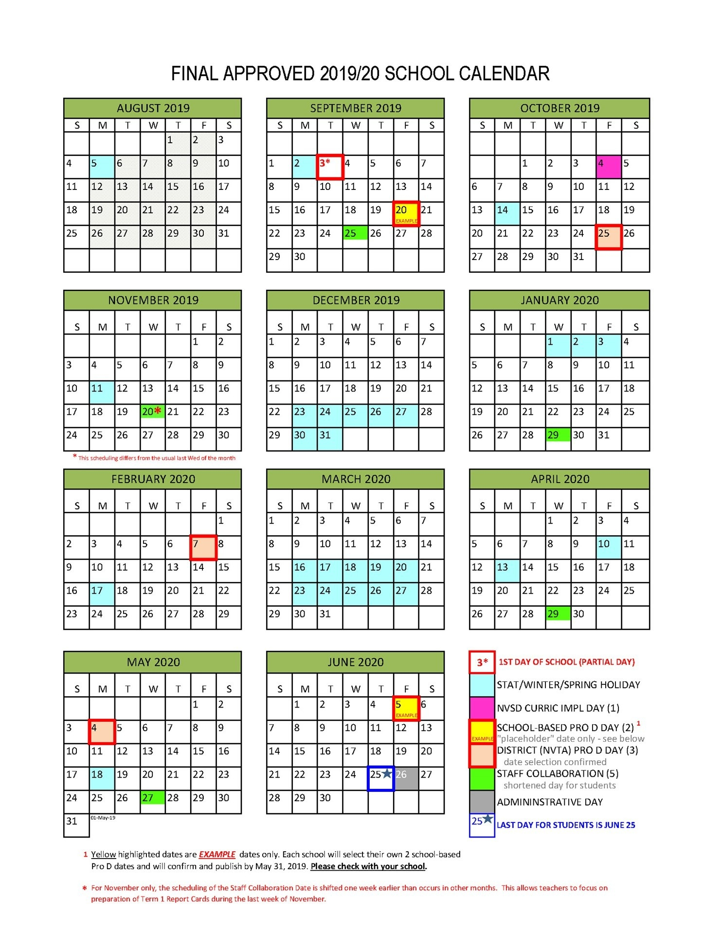District Calendar - North Vancouver School District-Key West Calendar January 2020