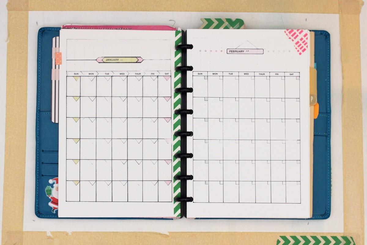Diy Planner | Amanda Hawkins | Ahhh Design-Monthly Calendar Print Out For Notebooks