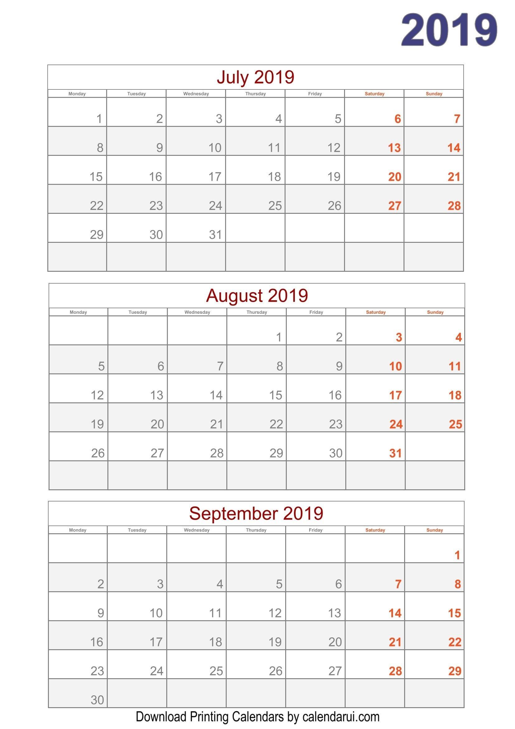 Download 2019 Quarterly Calendar Printable For Free-Blank Quarterly Calendar Printable 2020