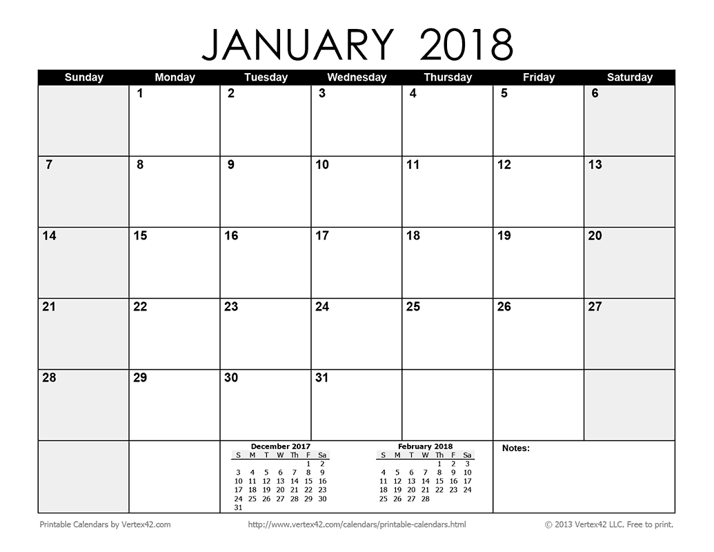 Download A Free Printable Monthly 2018 Calendar From-Blank Calendar 2020 Printable Monthly Payday Bills And Due Date