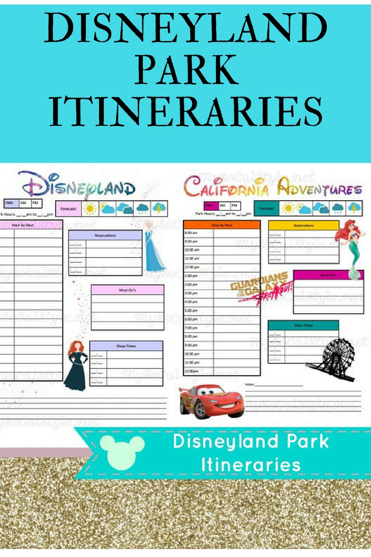 Downloadable Itinerary Templates For Disneyland And-Editable Disney Template Itinerary